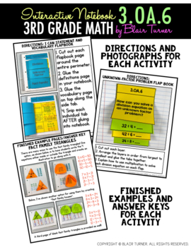 Interactive Notebook Activities - Division as Unknown Factor Problems {3.OA.6}