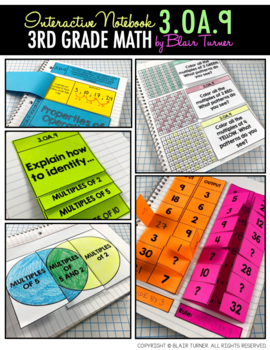 Interactive Notebook Activities - Number Patterns {3.OA.9}