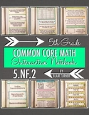 Interactive Notebook Activities - Add/Subtract Fractions Word Problems {5.NF.2}