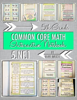Interactive Notebook Activities - Adding and Subtracting Fractions {5.NF.1}