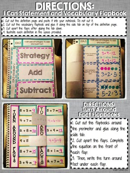 Interactive Notebook Activities - Addition and Subtraction Strategies {1.OA.3}