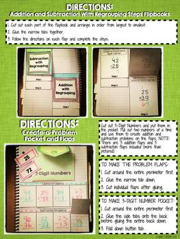 Interactive Notebook Activities - Addition and Subtraction {2.NBT.5}