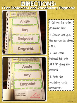 Interactive Notebook Activities - Angles and Degrees {4.MD.5}