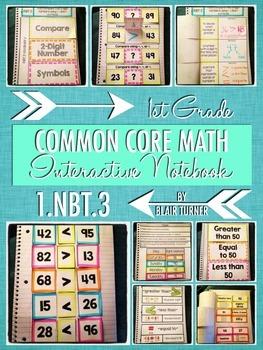 Interactive Notebook Activities - Comparing 2-Digit Numbers {1.NBT.3}