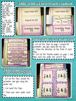 Interactive Notebook Activities - Comparing Fractions {4.NF.2}