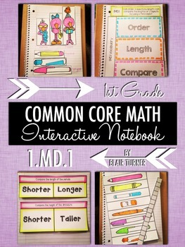 Interactive Notebook Activities - Comparing Lengths {1.MD.1}