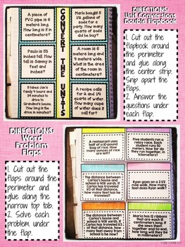 Interactive Notebook Activities - Converting Units {5.MD.1}
