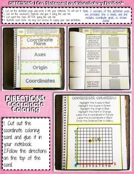 Interactive Notebook Activities - Coordinate Planes {5.G.1}