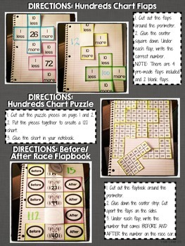 Interactive Notebook Activities - Counting to 120 {1.NBT.1}