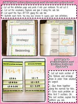 Interactive Notebook Activities - Decimal Operations {5.NBT.7}