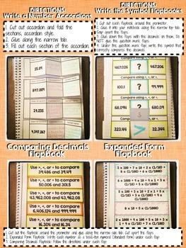 Interactive Notebook Activities - Decimals {5.NBT.3}