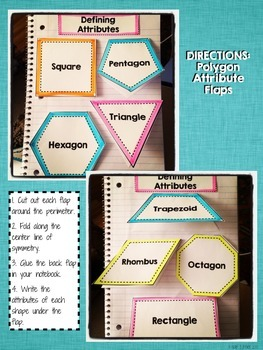 Interactive Notebook Activities - Defining and Non-Defining Attributes {1.G.1}