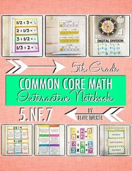 Interactive Notebook Activities - Dividing Unit Fractions