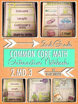 Interactive Notebook Activities - Estimate Lengths {2.MD.3}