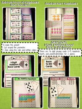 Interactive Notebook Activities - Fact Fluency {1.OA.6}