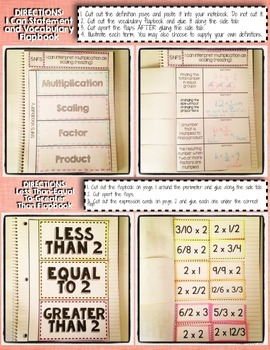Interactive Notebook Activities - Fraction Multiplication as Scaling {5.NF.5}