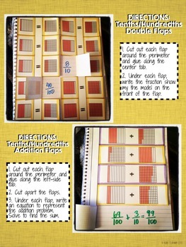 Interactive Notebook Activities - Fractions: Tenths/Hundredths {4.NF.5}