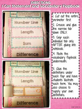 Interactive Notebook Activities - Lengths on a Number Line {2.MD.6}