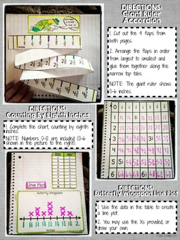 Interactive Notebook Activities - Line Plots {4.MD.4}