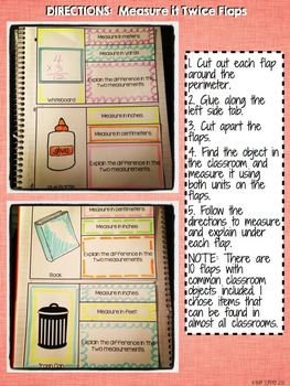 Interactive Notebook Activities - Measure an Object Twice {2.MD.2}