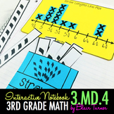 Interactive Notebook Activities - Measure to the 1/4 Inch & Line Plots {3.MD.4}