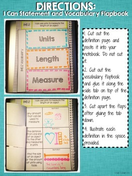 Interactive Notebook Activities - Measuring Length: Nonstandard Units {1.MD.2}