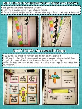 Interactive Notebook Activities - Measuring Length: Nonstandard Units {1.MD.2}