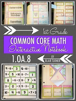 Interactive Notebook Activities - Missing Numbers {1.OA.8}