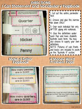 Interactive Notebook Activities - Money Word Problems {2.MD.8}