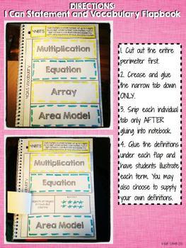 Interactive Notebook Activities - Multi-Digit Multiplication {4.NBT.5}