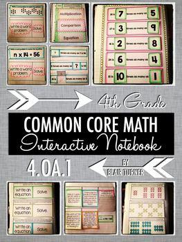 Interactive Notebook Activities - Multiplicative Comparison {4.OA.1}