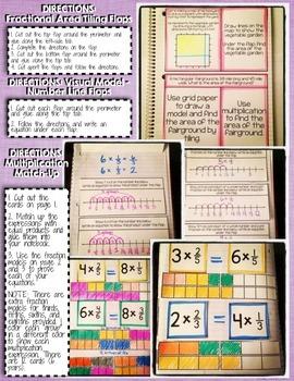 Interactive Notebook Activities - Multiplying Fractions {5.NF.4}