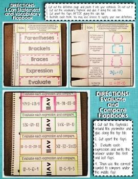 Interactive Notebook Activities - Order of Operations {5.OA.1}