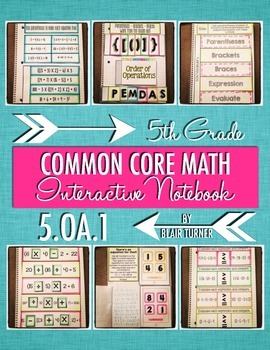 Interactive Notebook Activities - Order of Operations {5.OA.1}