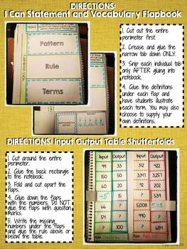 Interactive Notebook Activities - Patterns {4.OA.5}