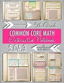 Interactive Notebook Activities - Patterns and Coordinate