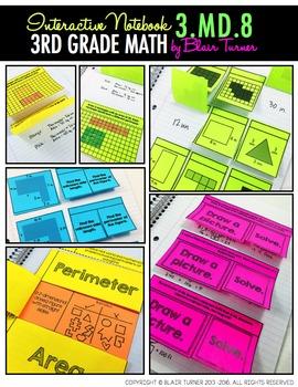 Interactive Notebook Activities - Perimeter {3.MD.8}