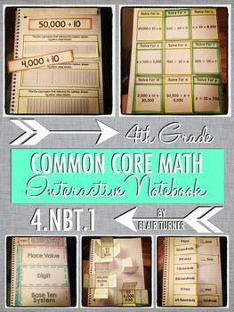 Interactive Notebook Activities - Place Value {4.NBT.1}