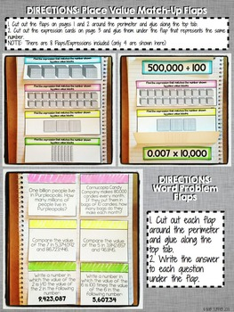 Interactive Notebook Activities - Place Value {5.NBT.1}