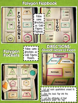 Interactive Notebook Activities - Polygons and Solid Figures {2.G.1}
