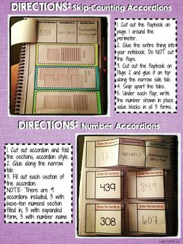 Interactive Notebook Activities - Reading and Writing Numbers {2.NBT.3}