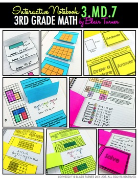 Interactive Notebook Activities - Rectilinear Area Concepts {3.MD.7}