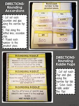 Interactive Notebook Activities - Rounding {4.NBT.3}