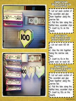 Interactive Notebook Activities - Skip-Counting by 5s, 10s, 100s {2.NBT.2}