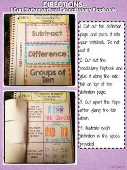 Interactive Notebook Activities - Subtracting Groups of 10 {1.NBT.6}