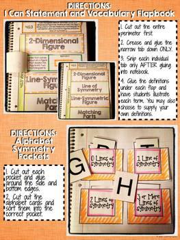 Interactive Notebook Activities - Symmetry {4.G.3}