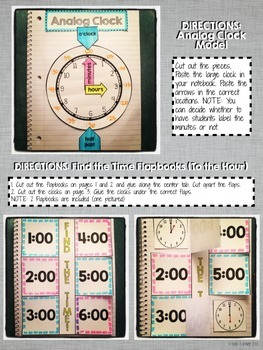 Interactive Notebook Activities - Telling and Writing Time {1.MD.3}