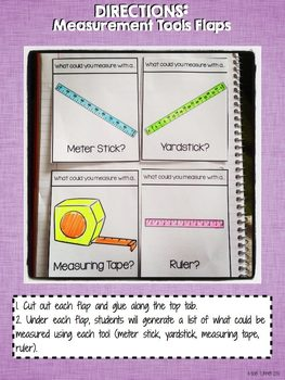 Interactive Notebook Activities - Using Tools to Measure Length {2.MD.1}