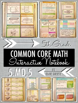 Interactive Notebook Activities - Volume Concepts {5.MD.5}