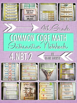 Interactive Notebook Activities - Writing and Comparing Numbers {4.NBT.2}